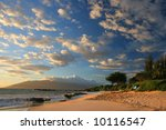 sunset on maui beach  hawaii | Shutterstock . vector #10116547