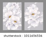 set of two invitation or... | Shutterstock .eps vector #1011656536