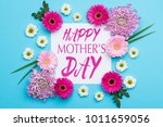 happy mother's day pastel candy ... | Shutterstock . vector #1011659056