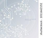 circuit board  technology... | Shutterstock .eps vector #1011662152