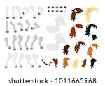 create your own cute little... | Shutterstock .eps vector #1011665968
