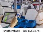 industry 4.0 robot concept ... | Shutterstock . vector #1011667876