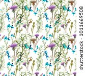 turquoise and violet flowers... | Shutterstock . vector #1011669508