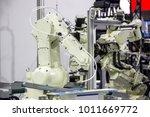 industry 4.0 robot concept .the ... | Shutterstock . vector #1011669772