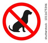 no dogs allowed. dog... | Shutterstock .eps vector #1011675346