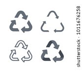 universal recycling symbol flat ... | Shutterstock .eps vector #1011676258