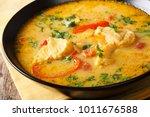 brazilian fish stew  moqueca... | Shutterstock . vector #1011676588