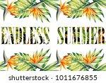 slogan endless summer lettering ...   Shutterstock .eps vector #1011676855