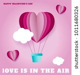 love hot air balloon  valentine'... | Shutterstock .eps vector #1011680326