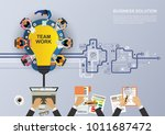 business concept for business... | Shutterstock .eps vector #1011687472