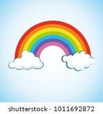 rainbow   clouds vector | Shutterstock .eps vector #1011692872