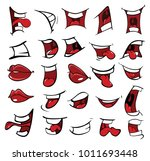 illustration of a set of mouths | Shutterstock .eps vector #1011693448