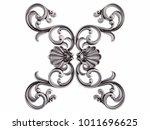 chrome ornament on a white... | Shutterstock . vector #1011696625