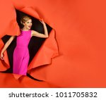 beautiful sexy blonde girl in... | Shutterstock . vector #1011705832