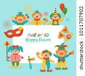 purim holiday banner design... | Shutterstock .eps vector #1011707902