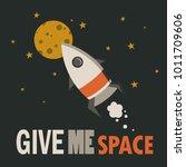 backdrop with rocket  stars ... | Shutterstock .eps vector #1011709606
