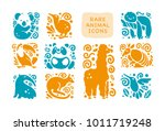 vector collection of flat cute... | Shutterstock .eps vector #1011719248
