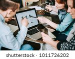 young creative managers... | Shutterstock . vector #1011726202