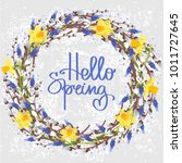 vector illustration with floral ... | Shutterstock .eps vector #1011727645