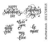 set of handdrawn lettering...   Shutterstock .eps vector #1011728515