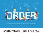 online order concept vector... | Shutterstock .eps vector #1011731752