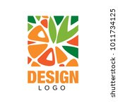 abstract fruit logo template.... | Shutterstock .eps vector #1011734125