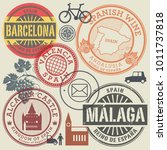 travel stamps or symbols set... | Shutterstock .eps vector #1011737818