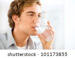 healthy and happy young man... | Shutterstock . vector #101173855