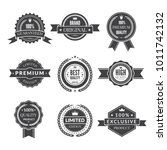 vintage template of monochrome...   Shutterstock .eps vector #1011742132