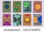 abstract covers templates with... | Shutterstock .eps vector #1011743092