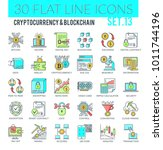 set of modern filled outline... | Shutterstock .eps vector #1011744196
