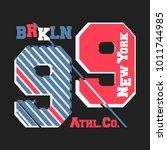 t shirt print design. new york... | Shutterstock .eps vector #1011744985
