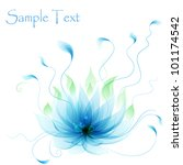 Abstract Vector Blue Lotus...