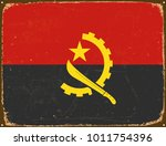 vintage metal sign   angola...   Shutterstock .eps vector #1011754396