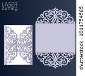 laser cut wedding invitation... | Shutterstock .eps vector #1011754585