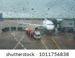 storm at the airport. view of... | Shutterstock . vector #1011756838