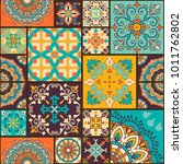 seamless colorful patchwork... | Shutterstock .eps vector #1011762802