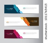vector abstract banner design... | Shutterstock .eps vector #1011765415