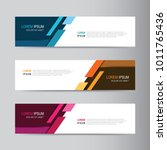 vector abstract banner design... | Shutterstock .eps vector #1011765436