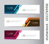 vector abstract banner design... | Shutterstock .eps vector #1011765436