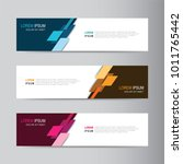 vector abstract banner design... | Shutterstock .eps vector #1011765442