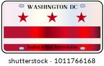 washington dc state license... | Shutterstock . vector #1011766168