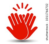 high five icon   stock vector | Shutterstock .eps vector #1011766732