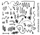vector isolated black doodle... | Shutterstock .eps vector #1011766975