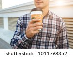 portrait of stylish young man... | Shutterstock . vector #1011768352