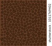 coffee background with beans.... | Shutterstock .eps vector #1011769402