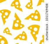 seamless pattern with slices of ... | Shutterstock .eps vector #1011769408
