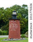 Small photo of Lewes, Delaware, September 18, 2017 - A small lighthouse welcomes visitors to Lewes, Delaware, on one of the main routes into the historic town.