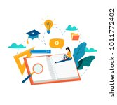 education  online training... | Shutterstock .eps vector #1011772402