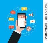 online news  newspaper  news... | Shutterstock .eps vector #1011774448